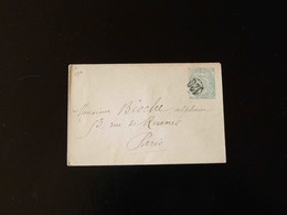 ENVELOPPE   5 C  TYPE BLANC POUR PARIS  CACHET  120 - Postal Stamped Stationery