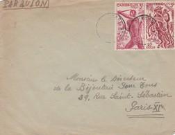 CAMEROUN ENVELOPE, CIRCULATED CIRCA 1940's. TO PARIS, FRANCE.  -LILHU - Cameroun (1915-1959)