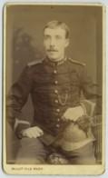 CDV Circa 1890 Mulot Fils à Paris . Pompier . Tambour Ou Clairon . - Photographs