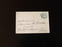 ENVELOPPE   5 C  TYPE BLANC POUR PARIS - Postal Stamped Stationery