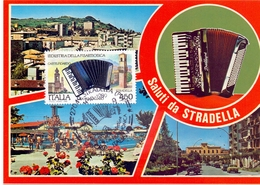 STRADELLA PIAZZA VITTORIO VENETO  1989 MAXIMUM POST CARD (GENN200455) - Fabbriche E Imprese