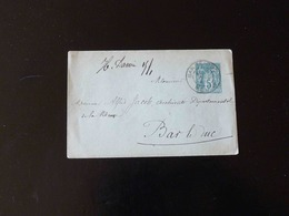 ENVELOPPE   5 C  TYPE SAGE POUR BAR LE DUC - Postal Stamped Stationery