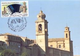 STRADELLA PIAZZA VITTORIO VENETO  1989 MAXIMUM POST CARD (GENN200456) - Fabbriche E Imprese