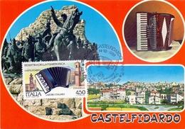 CASTELFDIARDO LAVORO ITALIANO INDUSTRIA DELLA FISARMONICA  1989 MAXIMUM POST CARD (GENN200459) - Fabbriche E Imprese