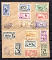 Falkland YT N° 101/114 Oblitérés Sur Deux Lettres De 1952. B/TB. A Saisir! - Falkland Islands