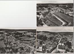 3 CPSM:MONTIERS SUR SAULX (55) CENTRE ROUTE DE PAROY,VUE,RUE DE LA FORGE - Montiers Sur Saulx