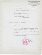 Lettre 1961 Du Colonel DECTOT Commandant 75ème R.I.Ma à Collo ALGERIE Mines De BOUDOUKHA - Documents