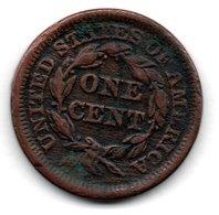USA  -  1 Cent 1847  -  Km // 67  -- état  B+ - Emissioni Federali