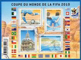 France Oblitération Cachet à Date BF N° F 4481 Coupe Du Monde De Football En Afrique Du Sud - Joueur - Ballon - Sheetlets