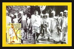 2019 Mahatma Gandhi INDIA 150 BIRTH ANNIVERSARY Uruguay Maximum Maxi CARD Limited To 28 Numbered Pieces - Uruguay