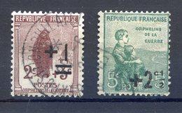 TIMBRE FRANCE N° 162 Et TIMBRE FRANCE N° 163 Oblitérés - Frankreich