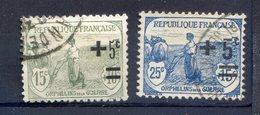 TIMBRE FRANCE N° 164 Et TIMBRE FRANCE N° 165 Oblitérés - Frankreich