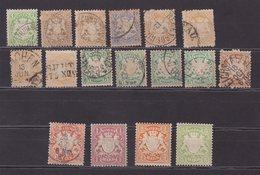 BAVIERE : 17 EX . * Et OBL . AB à B . 1875/01 . - Bavaria