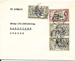 Nigeria Cover Sent Air Mail To Sweden 1960 - Nigeria (...-1960)