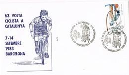 35433. Carta BARCELONA 1983. 63 Volta Ciclista Catalunya. Ciclismo - 1931-Today: 2nd Rep - ... Juan Carlos I
