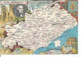 34 - HERAULT - SETE - CETTE - FRONTIGNAN - AGDE - LUNEL - St PONS - LA SALVETAT -  BEDARIEUX   ( Déssin: PINCHON ) - France