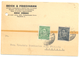 JUDAICA REICH & FRIEDMANN NOVI VRBAS YEAR 1932 - Servië