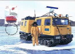 35436. Tarjeta Maxima AUSTRALIAN ANTARCTIC Territory. Kingston 2001. Transport - Maximum Cards