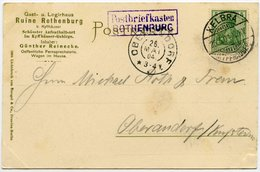 DT. REICH 1904, Nr. 55, KUPFERSTICHKARTE MIT R2 POSTBRIEFKASTEN ROTHENBURG, RR! - Germania