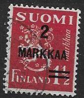 Finlande 1937 N° 194 Oblitéré Série Courante Surchargé - Used Stamps
