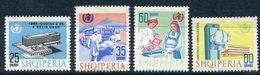 ALBANIA 1966 World Health Organisation MNH / **  Michel 1056-59 - Albanie