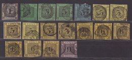 BADE : 18 EX .  OBL . AB. 1851/58 . - Baden