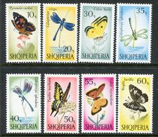 ALBANIA 1966 Butterflies And Dragonflies MNH / **  Michel 1048-55 - Unclassified