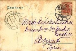 ALLEMAGNE - Carte Postale De Langenschwalbach Pour Beyrouth En 1906 , Cachet Du Bureau Autrichien De Beyrouth - L 51095 - Germany