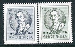 ALBANIA 1966 Cajupi Birth Centenary MNH / **   Michel 1046-47 - Albania