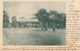 CAMEROUN )) GRUSS AUS KRIBI   Aufbruch Einer Expedition In S Hinterland  ** - Kamerun