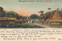 CAMEROUN )) DORFSTRASSE IN NYASOSO - Kamerun