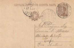 Sante Marie. 1929. Annullo Frazionario ( 3 - 149 ), Su Cartolina Postale, Completa Di Testo - 1900-44 Victor Emmanuel III.