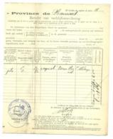 Changement Résidence 1907. Erquelinnes Bersillies L'Abbaye. Scohy. - Marcophilie