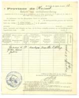 Changement Résidence 1909. Erquelinnes Bersillies L'Abbaye. Hanoteaux. - Marcophilie