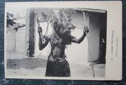 Guinée Portugaise Danseur Mancagne  Cpa Guiné Portugaise - Guinea-Bissau