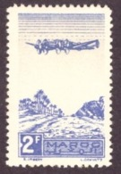 Maroc 1944 - Airmail - Plane On Palm Grove 2F # MNH # Color Violet Lilas - Maroc (1891-1956)