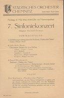 Theaterzettel 7. Sinfoniekonzert Städtisches Orchester Chemnitz 1946 - Programs