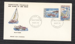 0l  045  -  Afars Et Issas  :  Yv  363-64  FDC  Bateau - Boat - Afars Et Issas (1967-1977)