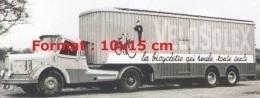 Reproduction D'une Photographie D'un Camion Avec Remorque Velosolex La Bicyclette Qui Roule Toute Seule - Reproductions
