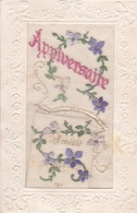 ¤¤    -   Carte à Système  -  Carte Brodée   -  Anniversaire   -    Fleurs     -   ¤¤ - Anniversaire