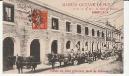 Bordeaux (Gironde) Maison Octave Dupuy,Quai De Brienne,le Chai,Ouvriers Chargeant Des Barriques Sur Attelage De Chevaux - Bordeaux