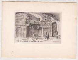 Gravure Le Mas De Brune -pressoir à Huile -Eygalières 13 France - Delas Rodet??? - Engravings