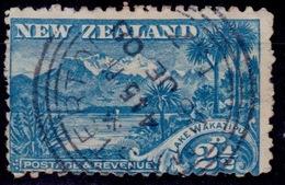 New Zealand 1898, Mt. Earnslaw-Lake Wakatipu, 2 1/2d, Scott# 74, Used - Gebraucht
