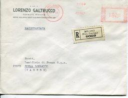 Italia (1969) - Raccomandata Da Milano - Affrancature Meccaniche Rosse (EMA)