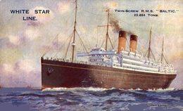 WHITE STAR LINE RMS BALTIC - Paquebote