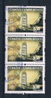 Türkei 2017 Mi.Nr. ? Senkr. 3er Streifen Gestempelt - 1921-... Republiek