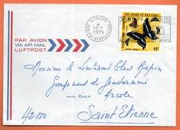 AFARS ETDES ISSAS    DJIBOUTI  ( Papillon )  1975   Lettre Entière N° BC 172 - Afars Et Issas (1967-1977)