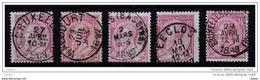 Belgie Kleine Verzameling Klassiek Nr 46 Stempels!!, Zeer Mooi Lot Krt 2356 - Timbres
