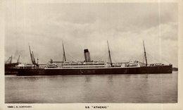 RPPC SS ATHENIC - Paquebote
