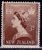 New Zealand 1953,  QEII, 3p, Sc# 281, Used - Gebraucht